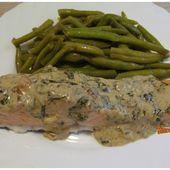 Pavés de saumon grillés, sauce crémeuse à l'oseille - www.sucreetepices.com