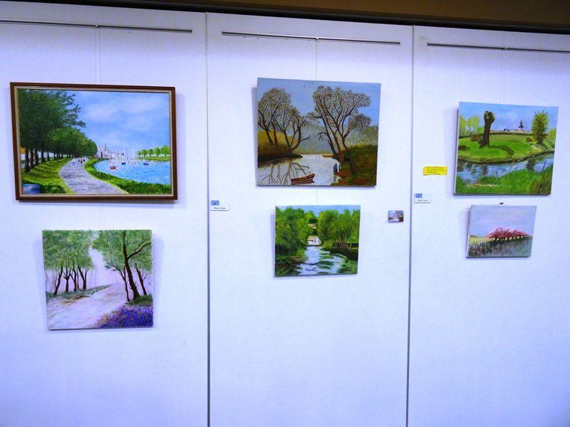 RETOUR SUR CETTE BELLE EXPOSITION...DE NOS AMIS D' HOM.ARTS