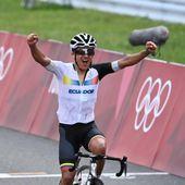 Richard Carapaz remporte la course en ligne des JO de Tokyo devant Wout Van Aert et Tadej Pogacar