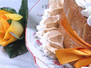 Charlotte - Brésillienne - Café - Chantilly - Recette - Cuisine - Repas - Dessert - Fête des Mères - Chocolat - Boudoirs - Noeud