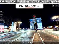 Les Champs Elysees numériques (format 360deg / 360°) sont parfaits pour faire SA pub mondiale - Ici le Splitz-All de chez GOOD N USEFUL made in USA