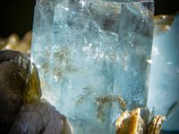Big Fluorite with Aquamarine( Aigue Marine) on Muscovite from Chumar Bakhoor, Hunza Valley, Gilgit District, Northern Areas, Pakistan (size: Museum XL)