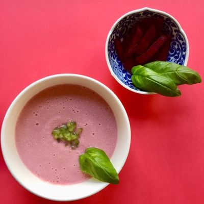 Beets and cucumber cold soup (gluten free)