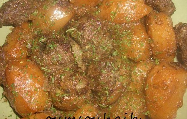 pommes de terre et coeurs d' artichauts farcis