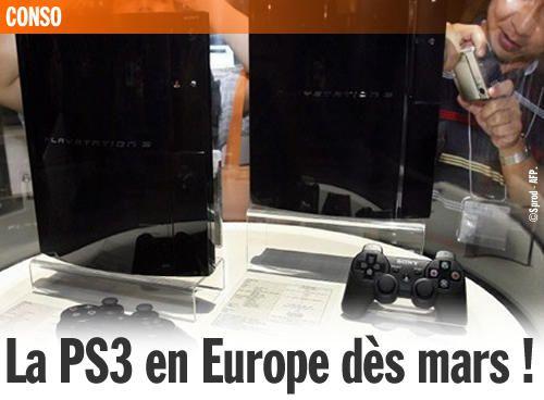 La PS3 en Europe dès mars !