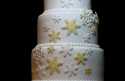 "Wedding cake ""Hiver"" - Winter wedding cake"