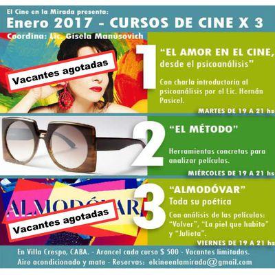 Quedan algunas vacantes para el curso 2. Si querés aprender a analizar películas en 4 clases, sumate!