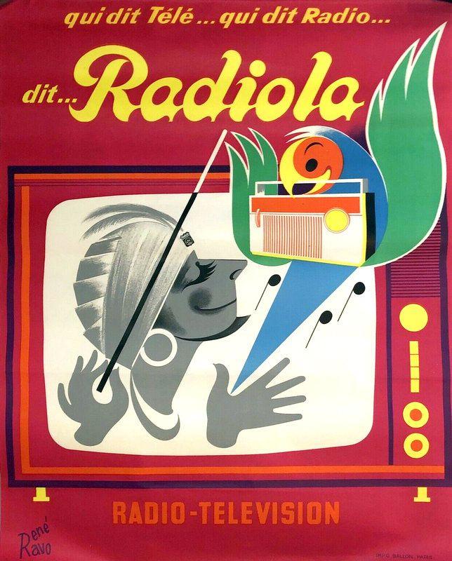 PUBLICITES :  LES  GRANDS  NOMS  DE  L'AFFICHE :...      René RAVO.