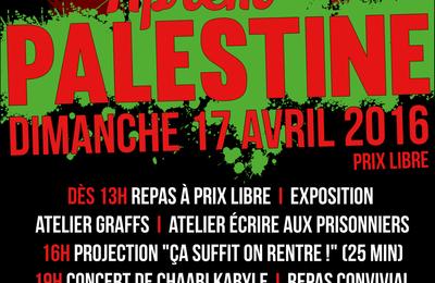 17 avril 2016 : Aprem Palestine !