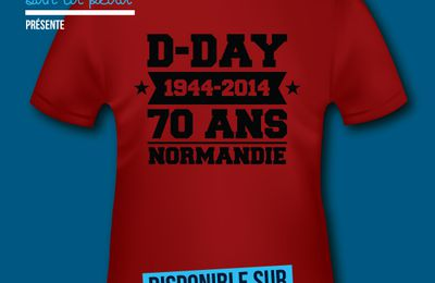 T-shirt France - Basse et Haute Normandie - D-Day - 1944 - 2014 - 70 ans