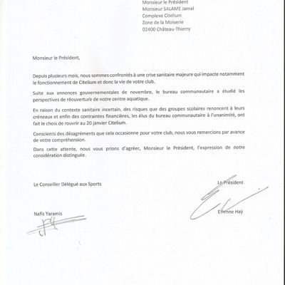 Courrier CARCT