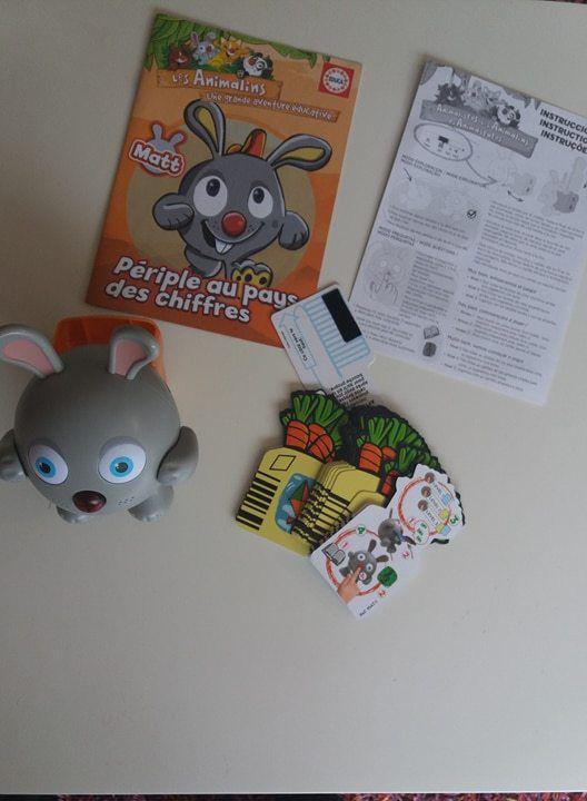 Les Animalins chez Educa - Matt le lapin, notre animal interactif !
