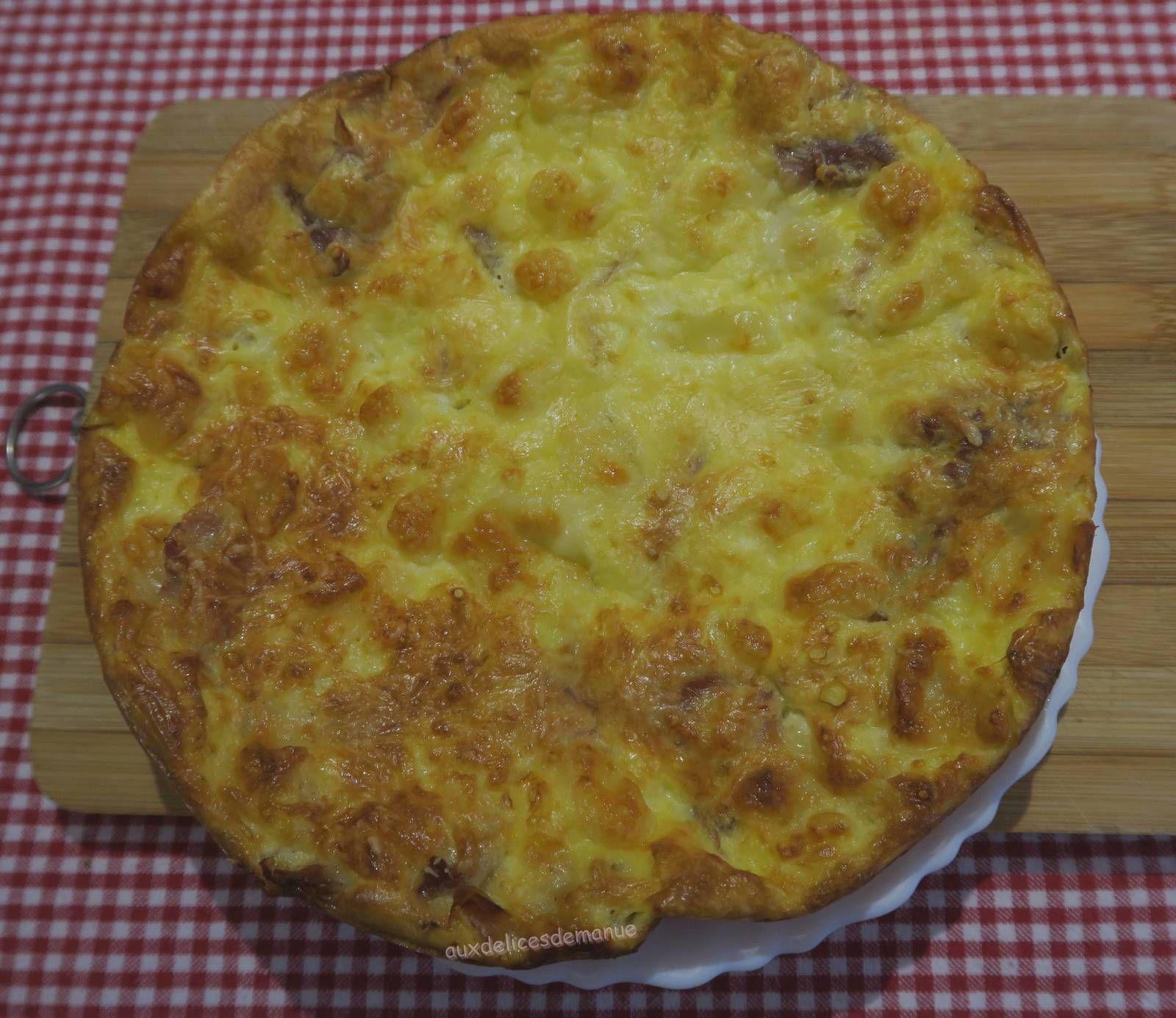 Quiche sans pâte au Serrano et mozzarella, gratinée