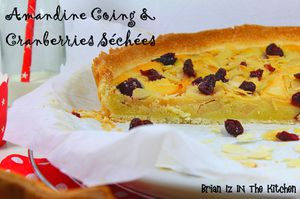 Tarte Amandine Coing & Cranberries Séchées