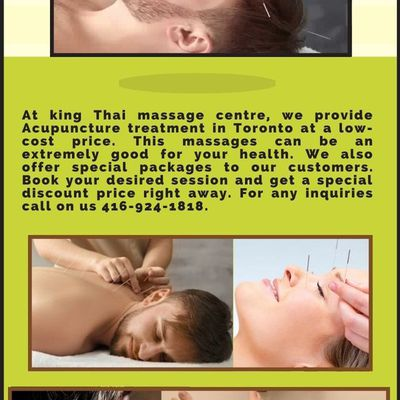 Acupuncture treatment in Toronto   best treatment for pain   King Thai Massage