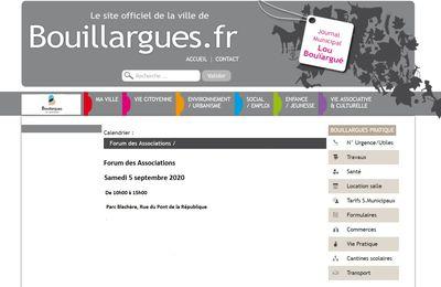 Samedi 5 septembre 2020, le Club sera au Forum des Associations à Bouillargues