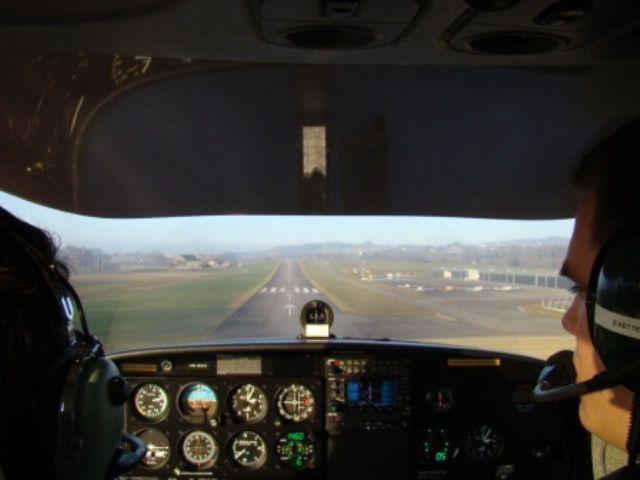 Vol au dessus des Alpes en DA40
