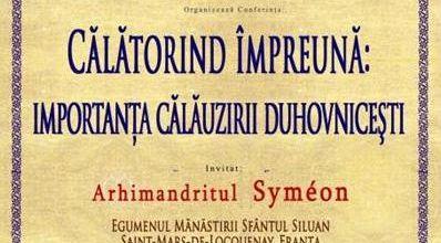 1 aprilie 2012 - Conferinta cu parintele Symeon, despre importanta calauzirii duhovnicesti