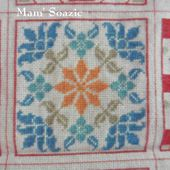Plaid Patchwork brodé : Case n° 32 - Chez Mamigoz