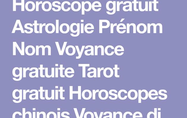 Tarot gratuit horoscope