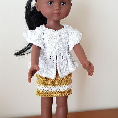 """Ensemble """"Coquet"""" pour poupée chérie"""