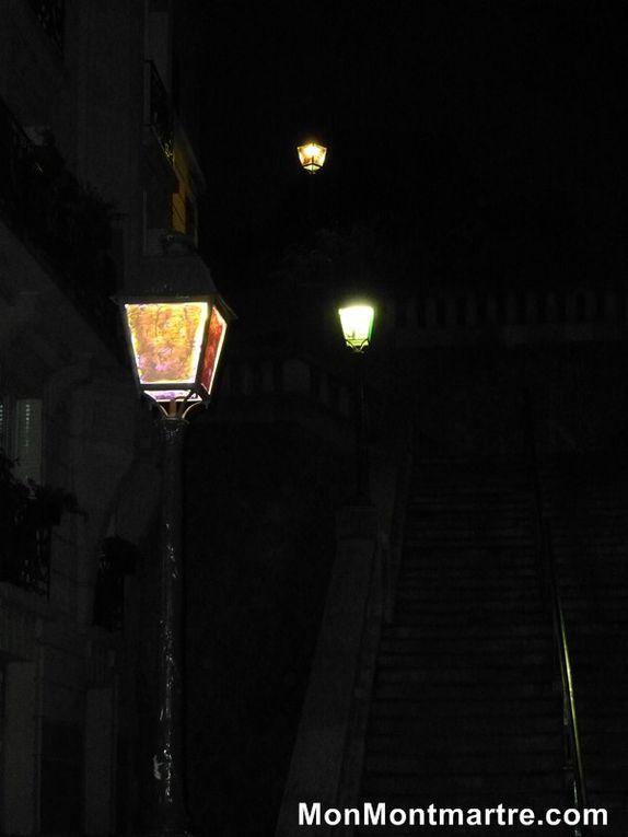 Vues de Montmartre. La nuit.