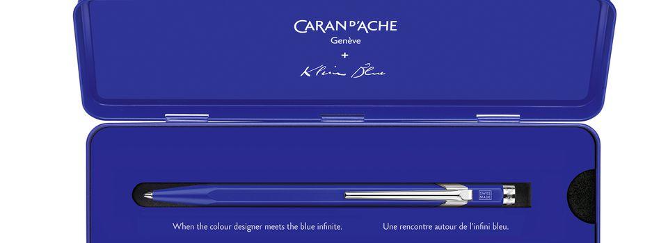 Caran d'Ache et Klein blue