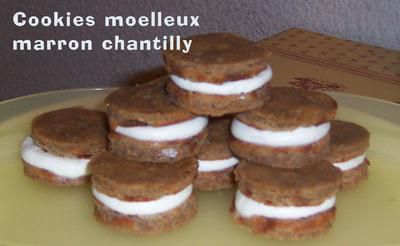Cookies moelleux marron chantilly