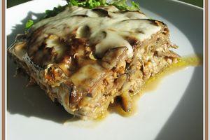 Moussaka végétarienne aux protéines de soja texturé