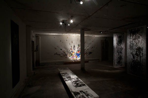 Préfiguration du projet en 2012 - installation J.M. Paubel/I. de Larminat et N. Muraki