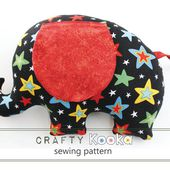 Elephant Cushion sewing pattern - instant download pdf