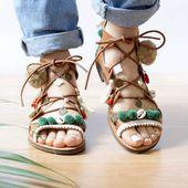 Tutoriel DIY Chaussures boho