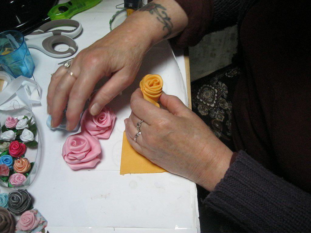 Mes fleurs en tissu -fichier n°7