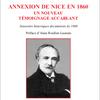 ANNEXION DE NICE EN 1860 : UN NOUVEAU TEMOIGNAGE ACCABLANT de Pierre Louis Caire