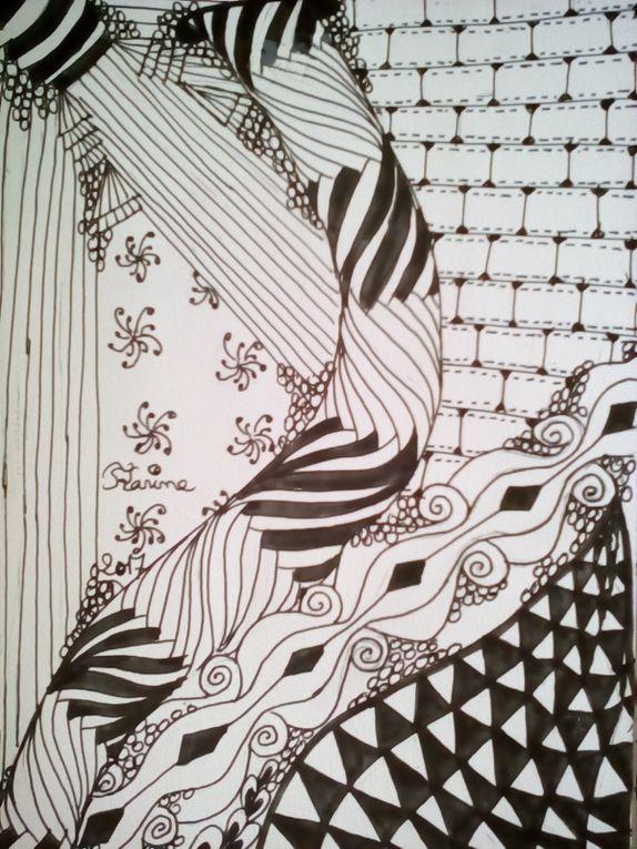 2 dessins Zentangle