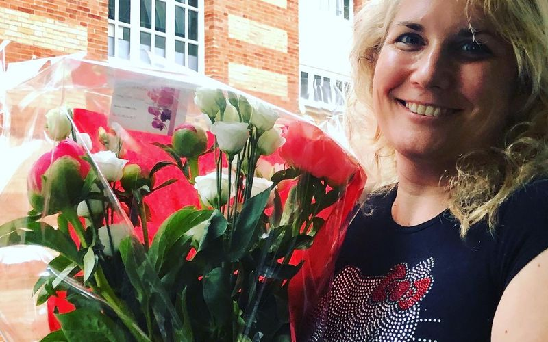 Veronica Antonelli Merci Thanx Grazie for the flowers and roses