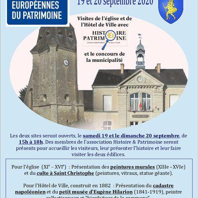 Saint-Christophe-sur-le-Nais : Journées du Patrimoine (rappel)