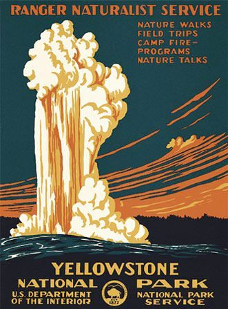 """Old Faithful"" featured on the National Park / Limited Centennial Edition poster."