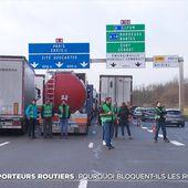Les transporteurs routiers bloquent les routes pour protester contre la hausse du gazole - Le Journal du week-end   TF1
