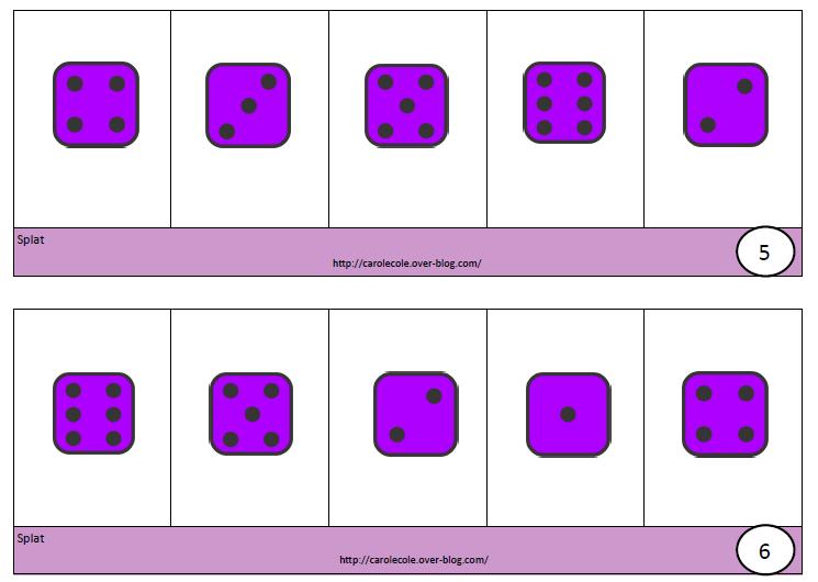 Màj Splat boîtes à compter de 5 à 10 et de 1 à 6