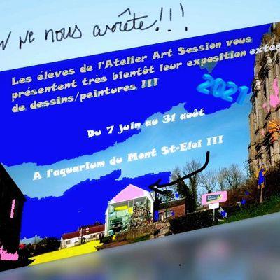 Exposition des 70 élèves de l'Atelier Art Session : 3 mois au Mont St-éloi !