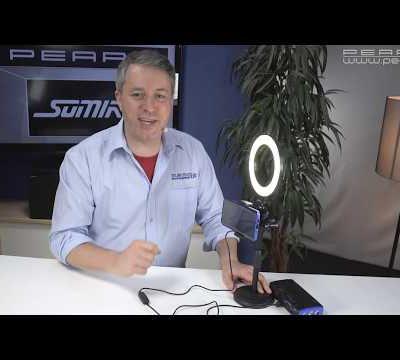 ANNEAU LED AVEC SUPPORT POUR SMARTPHONE - éclairage sans ombre