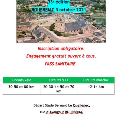Cyclarmor BOURBRIAC - 3 Octobre 2021.