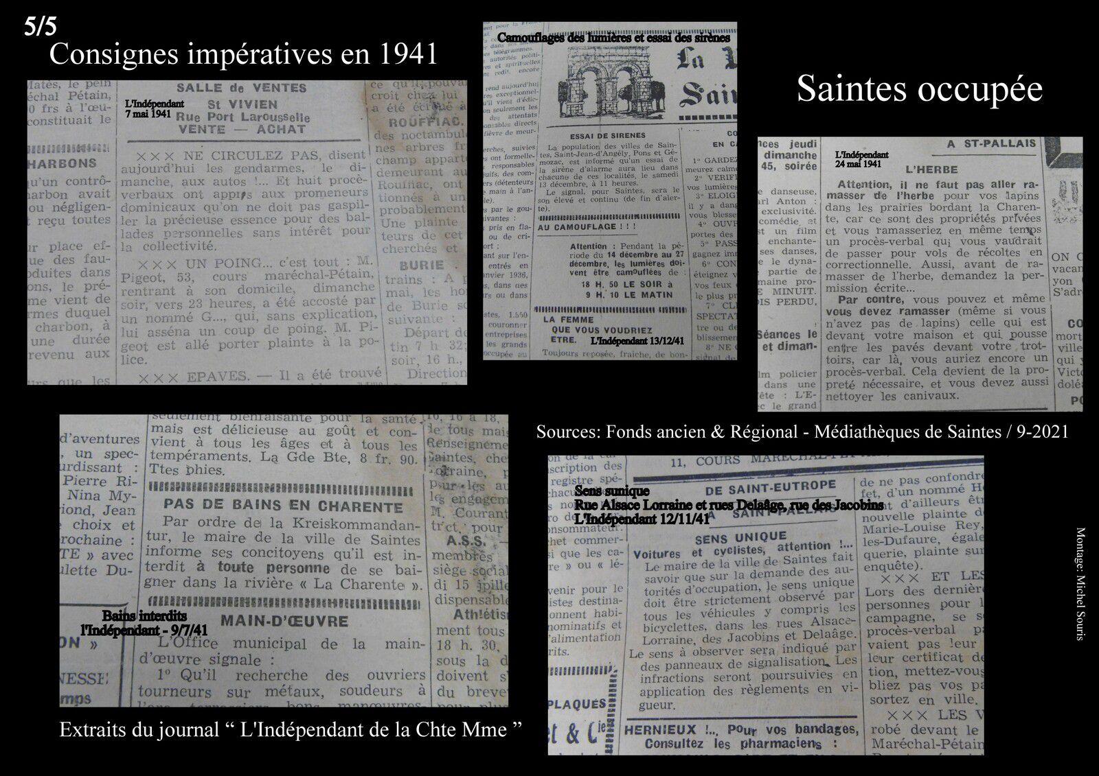 Nous terminerons cette rapide lecture de ce journal en découvrant le changement de nom d enotre département... d'inférieur il allait devenir maritime, mais il fallait alors la signature d'un fameux Pétain depuis son bureau de Vichy.
