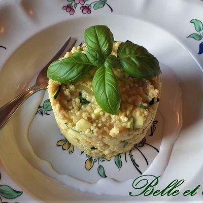 Risotto de couscous aux courgettes goût Thaïe