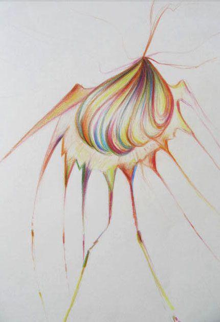 Crayons de couleurs, pastels secs...sur papier