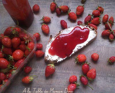 Coulis de fraises et basilic