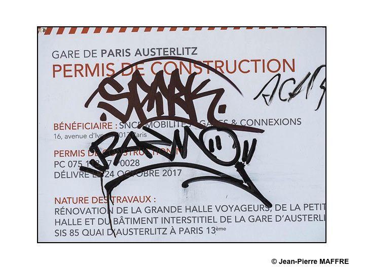"""""""Choses vues"""" à Paris le 2 mai 2018 près de la gare d'Austerlitz après la manifestation de la Fête du Travail en sachant que notre rôle ici n'est pas de juger mais de témoigner."""