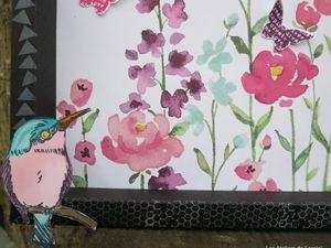 """Cadre en papier """"éclosion de fleurs"""""""