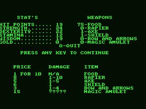 Akalabeth déboule sur Amstrad CPC !!!